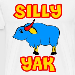 White Silly Yak Celiac Disease Gluten Free T-Shirts - Men's Premium T-Shirt