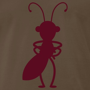 Brown outline angry ant standing T-Shirts - Men's Premium T-Shirt
