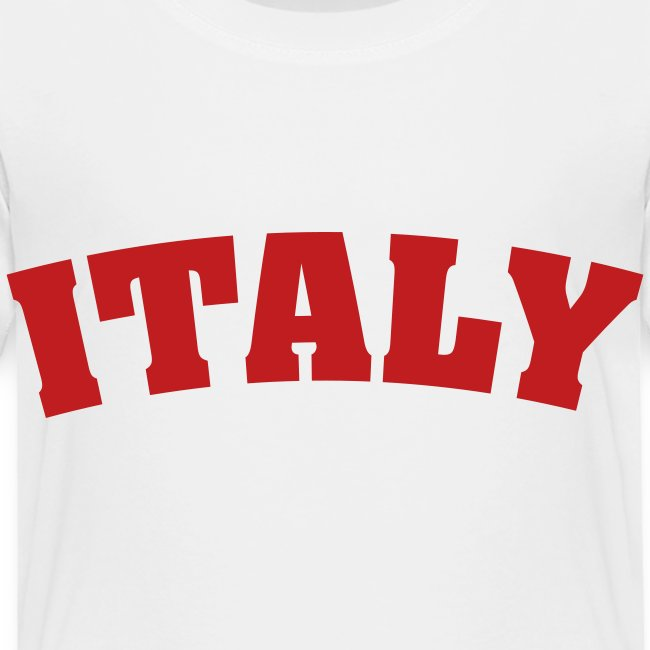 Toddler Italy, Red on White