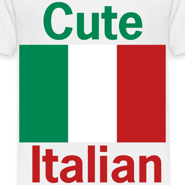 Toddler Cute Italian, White