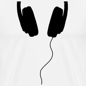 half headphone black - Men's Premium T-Shirt
