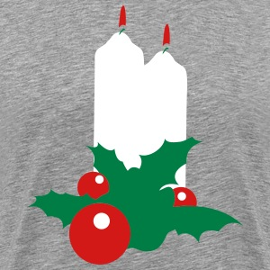 Heather grey christmas christian candles beautiful  T-Shirts - Men's Premium T-Shirt