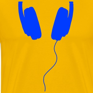blue headphones - Men's Premium T-Shirt