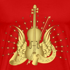 Red Golden Winged Violin T-Shirts - Men's Premium T-Shirt