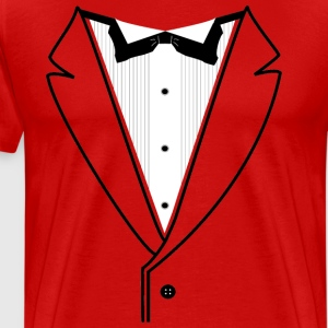 Custom Tuxedo Plain w/Black Lines - Men's Premium T-Shirt