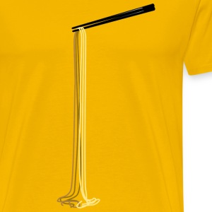 Long Noodles Chopsticks - Men's Premium T-Shirt