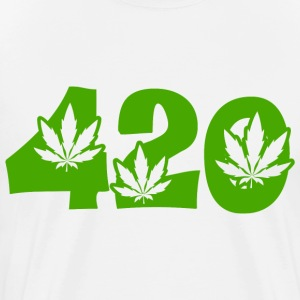 White 420 T-Shirts - Men's Premium T-Shirt