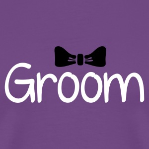 Purple Groom T-Shirts - Men's Premium T-Shirt