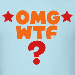 Sky blue omg wtf TXT shirt with ? T-Shirts - Men's T-Shirt