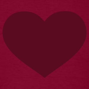 Burgundy Heart T-Shirts - Men's T-Shirt