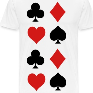 Playing Card Symbols - Men's Premium T-Shirt
