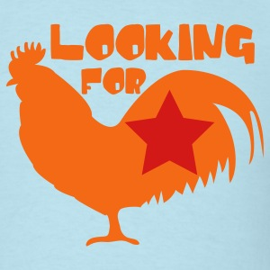 Sky blue Looking for cock rooster with star T-Shirts - Men's T-Shirt