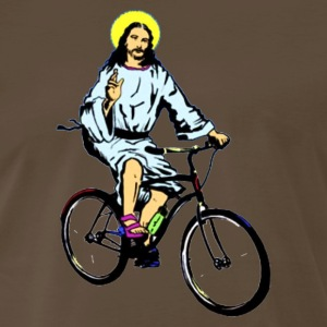 Christ on a bike - Men's Premium T-Shirt