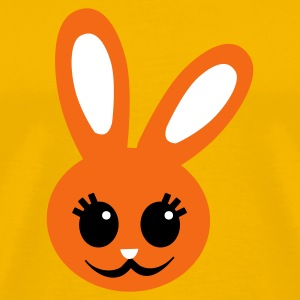 Gold cute rabbit face maternity or baby T-Shirts - Men's Premium T-Shirt