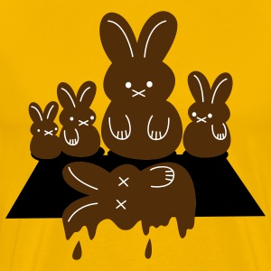 Gold easter massacre melting chocolate bunny T-Shirts - Men's Premium T-Shirt