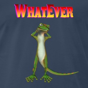 Navy WhatEver gecko T-Shirts - Men's Premium T-Shirt