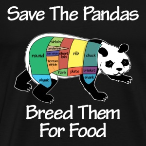 Panda Breeding - dark - Men's Premium T-Shirt