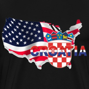 Croatians North America USA - Croatia - Men's Premium T-Shirt