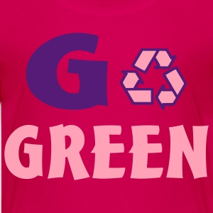 Hot pink go green Kids' Shirts - Kids' Premium T-Shirt