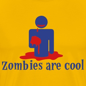 Gold zombies are cool T-Shirts - Men's Premium T-Shirt