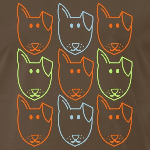 Brown nine dogs andy warhol style T-Shirts - Men's Premium T-Shirt
