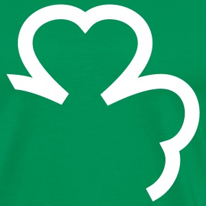 Kelly green shamrock cloverleaf leaf T-Shirts - Men's Premium T-Shirt
