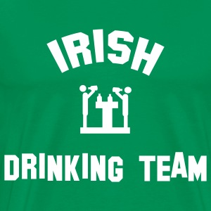 Kelly green irish drinking team T-Shirts - Men's Premium T-Shirt