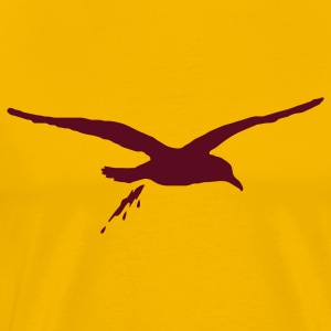 Gold bombing sea gull T-Shirts - Men's Premium T-Shirt