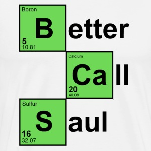 White Better Call Saul T-Shirts - Men's Premium T-Shirt