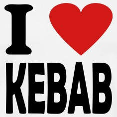 White i love kebab T-Shirts