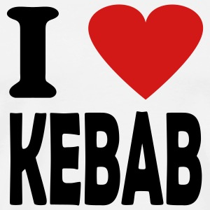 White i love kebab T-Shirts - Men's Premium T-Shirt