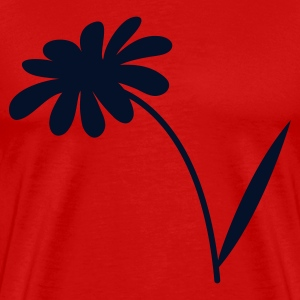 Red simple daisy flower T-Shirts - Men's Premium T-Shirt