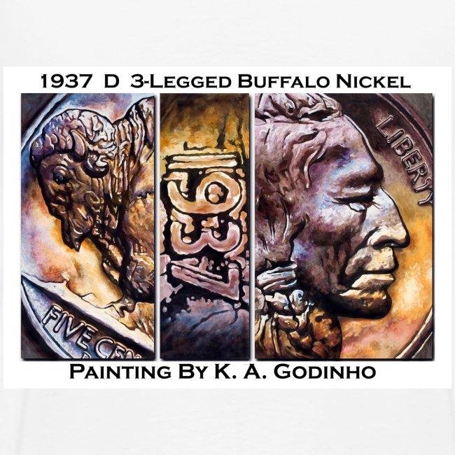 1937 D 3-Leg Buffalo Men's T-shirt