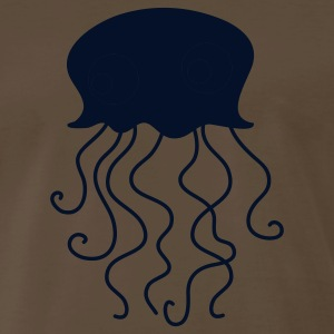 Brown jellyfish with googly eyes for baby T-Shirts - Men's Premium T-Shirt
