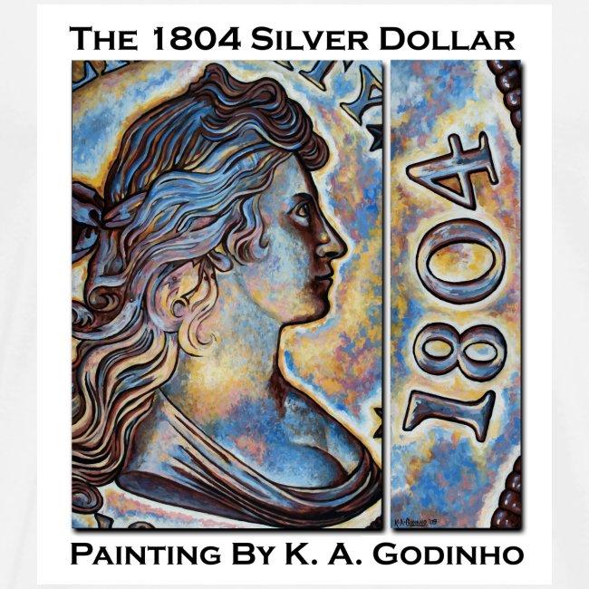 "1804 Silver Dollar ""King of Coins"" Men's T-shirt"