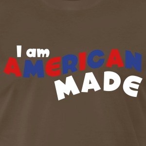 Brown I am American Made T-Shirts - Men's Premium T-Shirt