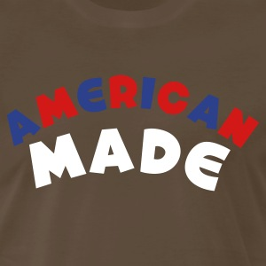 Brown American Made T-Shirts - Men's Premium T-Shirt