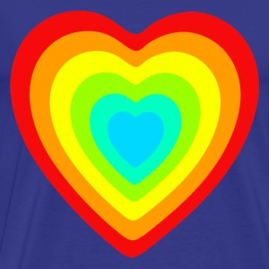 rainbow heart - Men's Premium T-Shirt