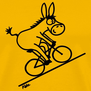 Gold Biking Donkey T-Shirts - Men's Premium T-Shirt
