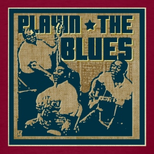 Burgundy playin' the blues T-Shirts - Men's T-Shirt