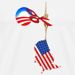 White America Hanging By A Thread T-Shirts - Men's Premium T-Shirt