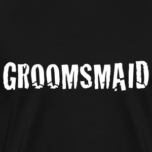 Black groomsmaid groom groomsman wedding T-Shirts - Men's Premium T-Shirt