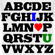 Design ~ ABC I Heart U Tee