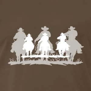 cowboy white shadow - Men's Premium T-Shirt