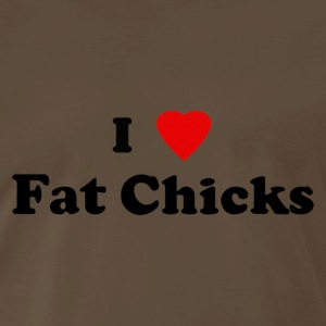 i heart fat chicks - Men's Premium T-Shirt