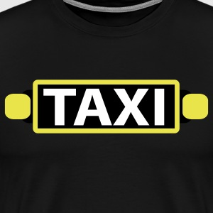 Black taxi with sign T-Shirts - Men's Premium T-Shirt