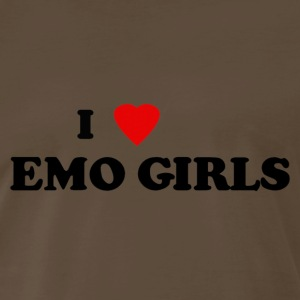 I heart emo girls - Men's Premium T-Shirt