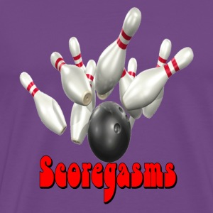 Purple Bowling Team Scoregasms T-Shirts - Men's Premium T-Shirt