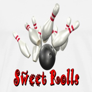 White Bowling Team Sweet Rolls T-Shirts - Men's Premium T-Shirt