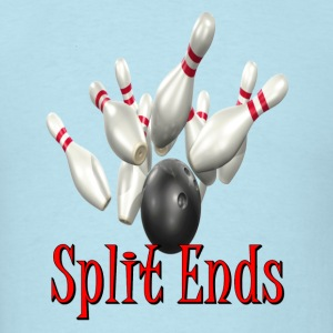 Sky blue Bowling Team Split Ends T-Shirts - Men's T-Shirt